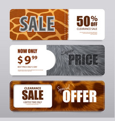 fur texture realistic banners vector image