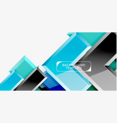 glossy arrows geometric background vector image