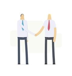handshake of two businessmen vector image