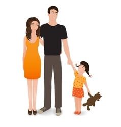 Happy family The smiling people isolated on a vector