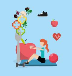 health fitness cartoon vector image