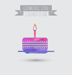icon birthday cake symbol of cake Celebrating the vector image