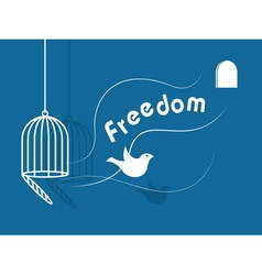 Inspirational freedom with dove icon vector