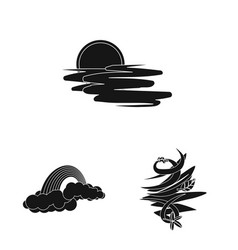 Isolated object of weather and climate logo vector