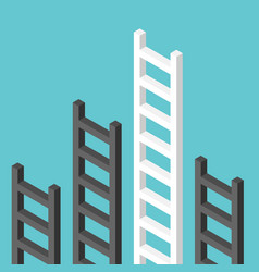 isometric ladders one unique vector image