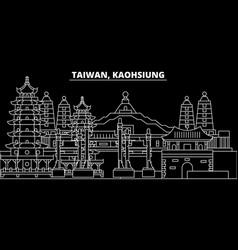 Kaohsiung silhouette skyline taiwan - kaohsiung vector