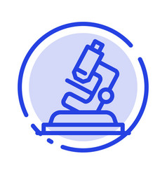 Lab microscope science zoom blue dotted line line vector