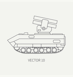 Line flat plain icon armored reactive vector