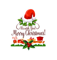 Merry christmas happy holiday design vector