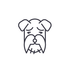 miniature schnauzer line icon sign vector image