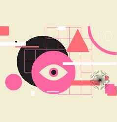 Minimal geometric web banner design vector