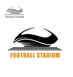 Modern football stadium building icon vector