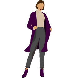 modern woman silhouette vector image