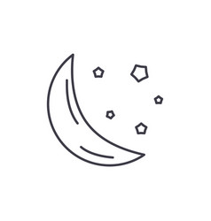 moon line icon concept moon linear vector image