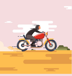 Motorbike with fast speed vector