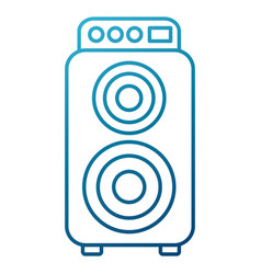 music speaker isolated vector image