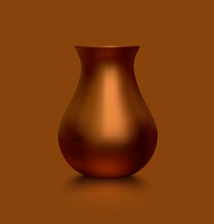 Old copper vase vector