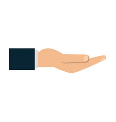 Open hand with palm up icon image vector