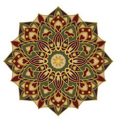 Ornamental eastern mandala vector