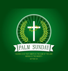 Palm sunday banner vector