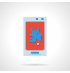 Phone repair flat color design icon vector