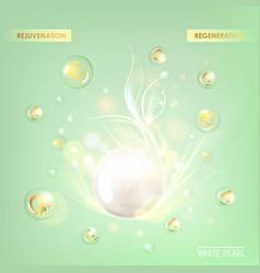 Regenerate cream and Vitamin vector image