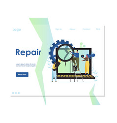 repair website landing page design template vector image