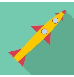 Rocket launch icon flat style vector image