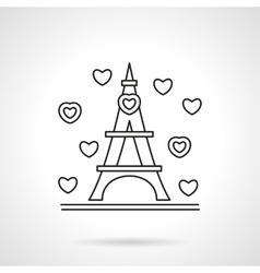 Romantic tour flat line icon vector image