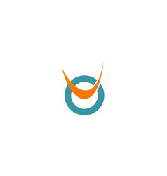 round abstract loop logo vector image