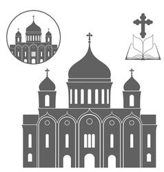 Russia cathedral of christ the saviour vector