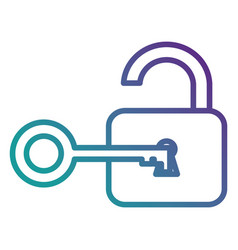 safe padlock with key vector image