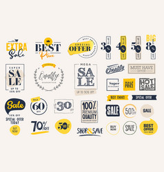 Sale labels and stickers collection vector