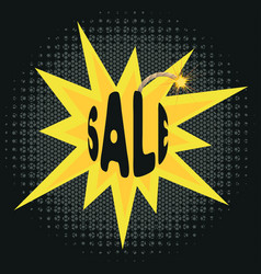 sale on bomb vector image