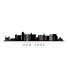 san jose skyline horizontal banner vector image