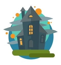Scary dark castle vector