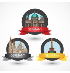 set most famous german landmarks high detailed vector image