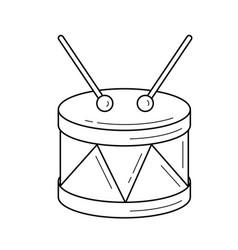 Snare drum line icon vector