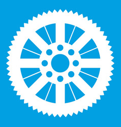 sprocket from bike icon white vector image