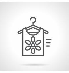 Summer clothing store black line icon vector