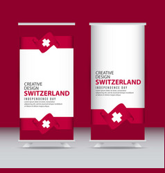 Switzerland independence day celebration creative vector
