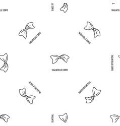 tagliatelle corte pattern seamless vector image