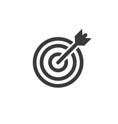 Target arrow icon symbol vector