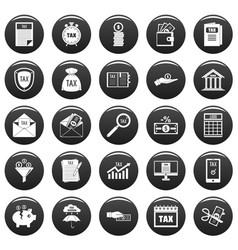 taxes icons set vetor black vector image