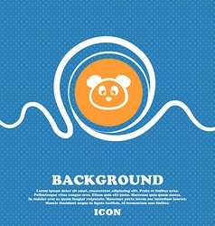 Teddy Bear icon sign Blue and white abstract vector