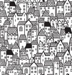 Town seamless background vector image