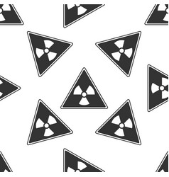 Triangle sign with a radiation symbol icon vector
