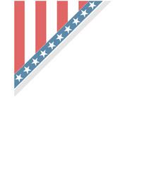 us abstract flag symbols corner vector image