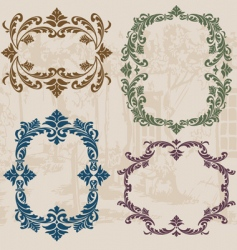 Vintage ornaments set02 vector