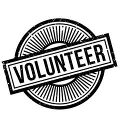 volunteer rubber stamp vector image